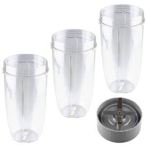 FOCCTS 32oz NutriBullet Replacement Cup Blender Replacement Gasket Blender Accessories 4Pcs Set Replacement Parts Compatible for Nutribullet 600w-900w Replacement Parts