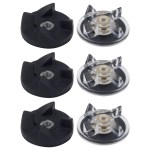 3 Pack Base Gear and Blade Gear Replacement Part Compatible with Magic Bullet 250W Blenders MB1001