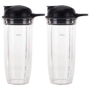 2 Pack 32 oz Cup and To-Go Lid Replacement Parts Compatible with NutriBullet Pro 1000, Combo and Select Blenders