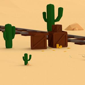 Timelapse – Low Poly Desert Scene