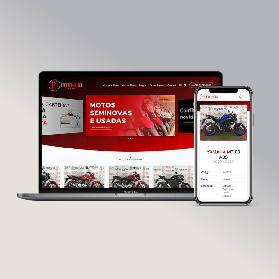 Ilustração do site da Moto e Cia