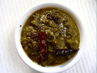 Palakoora Pachadi ~ Spinach Chutney