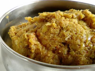 Cabbage Chutney ~ Cabbage Thuvayal