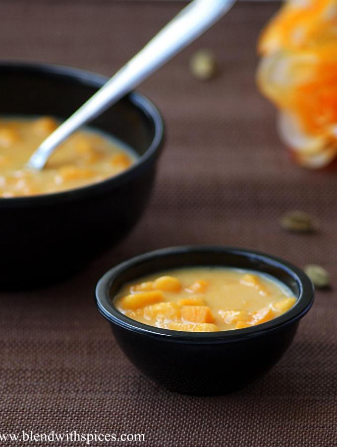 Ambyache Shikran Recipe ~ Maharashtrian Mango and Milk Dessert