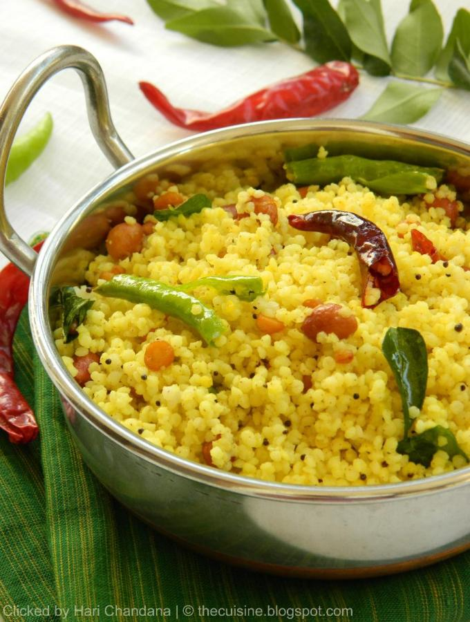 Korra Biyyam Chitrannam ~ Millet Lemon Bhath