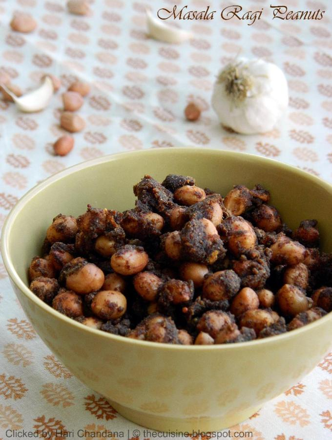 Masala Peanuts with Ragi Flour | Palli Ragi Pakoda Recipe