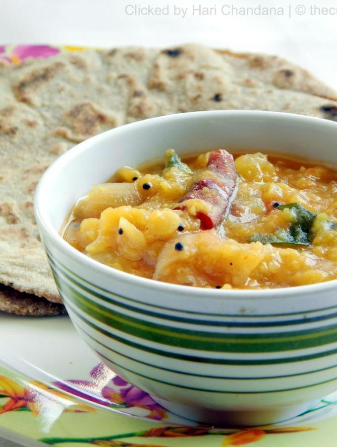 Gummadikaya Pappu ~ Pumpkin Dal Recipe