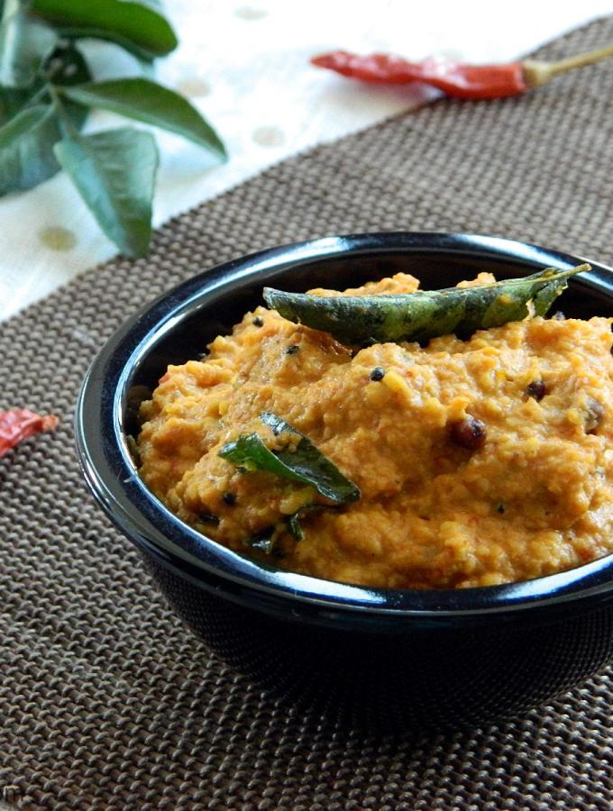 Tomato Pesara Pachadi ~ Tomato and Moong Dal Chutney Recipe