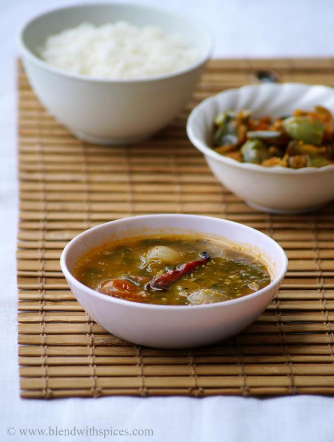 Thotakura Sambar Recipe ~ South Indian Amaranth Leaves Sambar Recipe