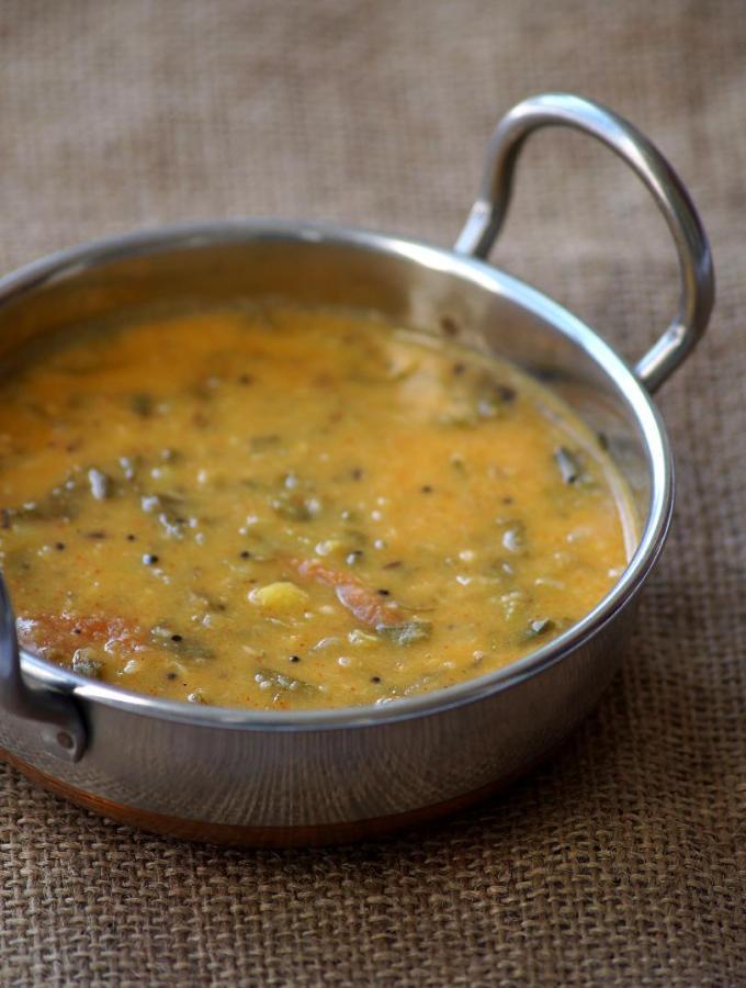 Thotakura Kootu Recipe – Mulai Keerai Kootu – South Indian Kootu with Amaranth Leaves