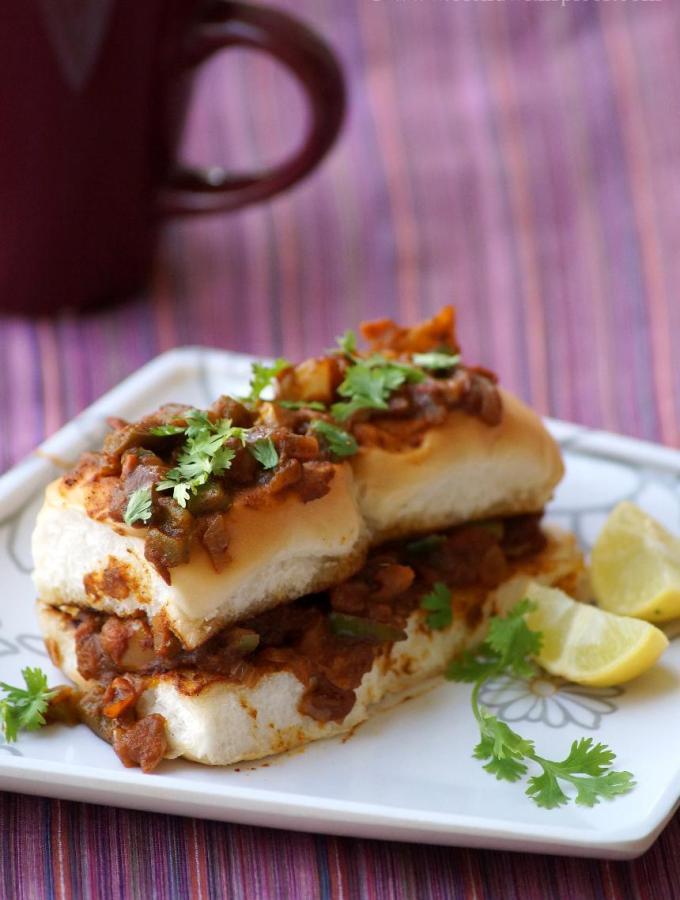 Masala Pav Recipe ~ Mumbai Street Food Recipes