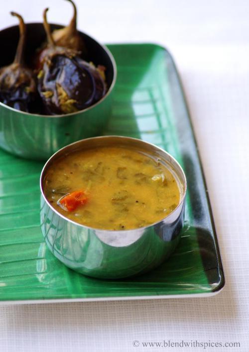 spinach sambar recipe, keerai sambar, how to make palak sambar, sambar recipes, south indian recipes