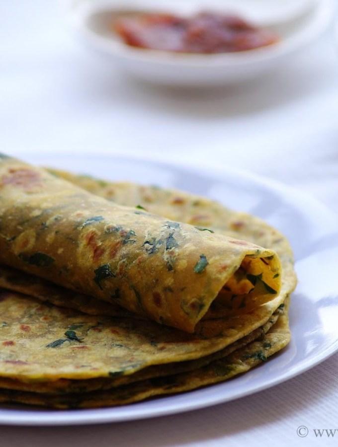 Methi Paratha Recipe – How to make Methi Paratha – Fenugreek Paratha – Step by Step Recipe