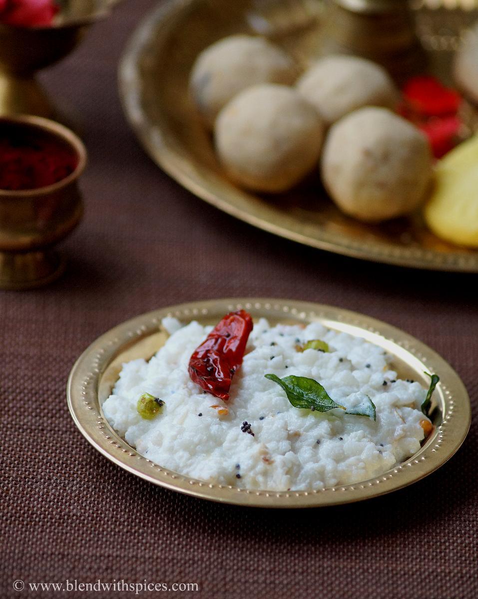 Atukula Daddojanam Recipe - Thayir Aval - Dahi Poha - Mosaru Avalakki - Krishnashtami Naivedyam Recipes