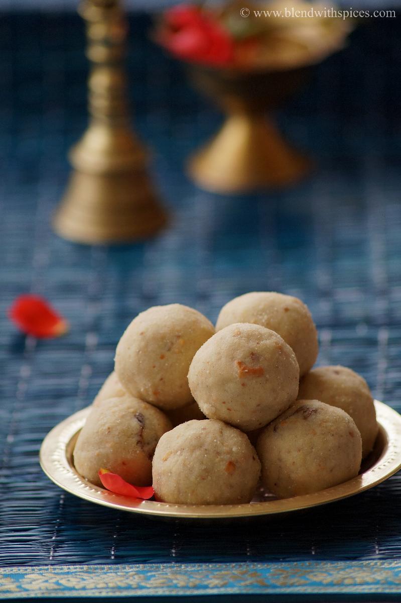 Poha Peanut Laddo Recipe - Atukula Palli Ladoo- Aval Laddu - Easy Gokulashtami Naivedyam Recipes