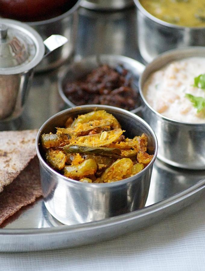Dondakaya Kobbari Karam Recipe ~ Andhra Style Tindora and Coconut Fry Recipe