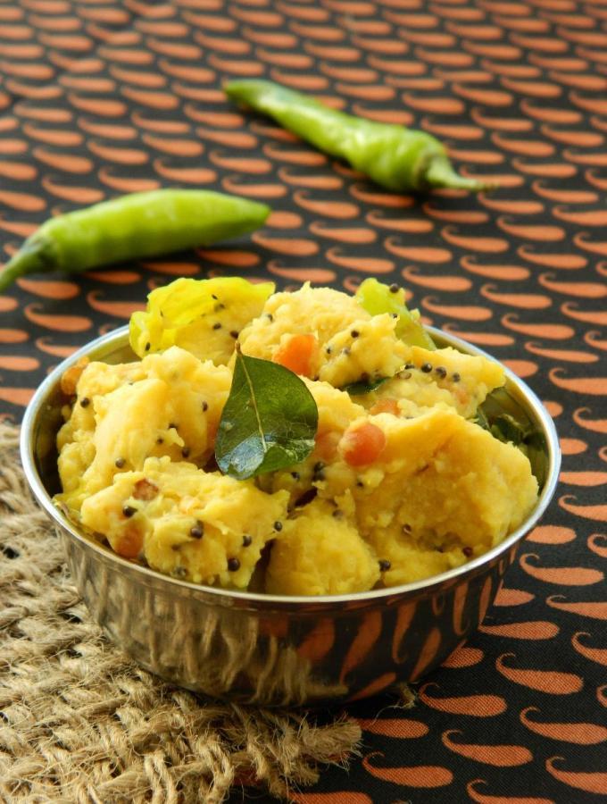 Kanda Nimmakaya Koora ~ Elephant Yam Lemony Curry