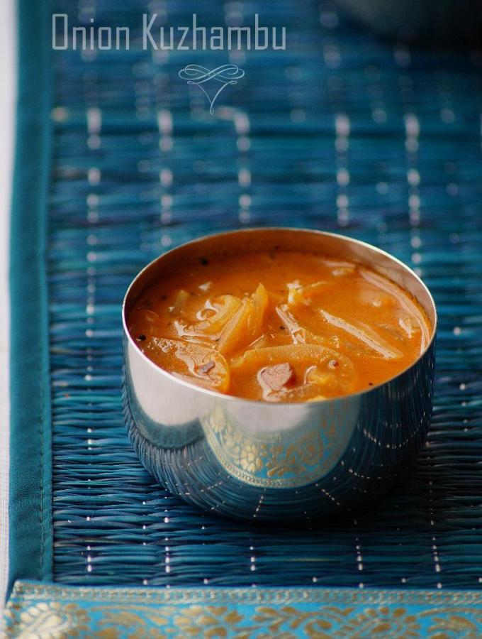 Onion Kuzhambu Recipe – How to make Onion Kulambu – South Indian Recipes