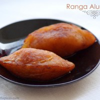 Ranga Alur Puli Pithe Recipe - Sweet Potato Pithe - Poush Sankranti / Makar Sankranti Recipes