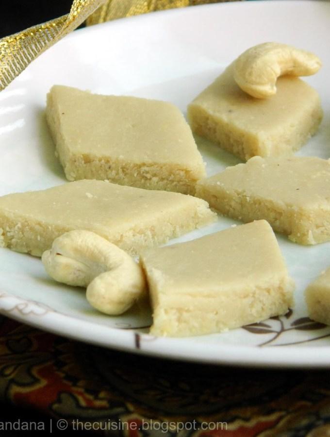 Kaju Katli ~ Cashew Burfi Recipe