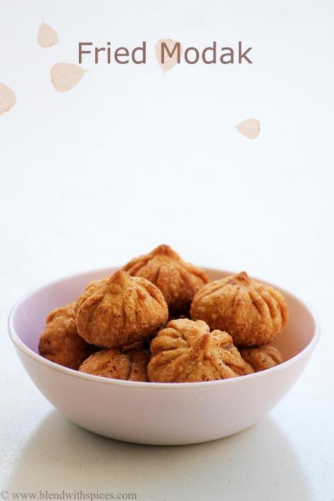 maharashrian modak recipe, easy fried modak recipe, fried modak for ganesh chaturthi