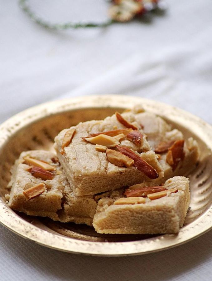 Rajgira Flour Burfi Recipe – Amaranth Flour Burfi – Raksha Bandhan Recipes