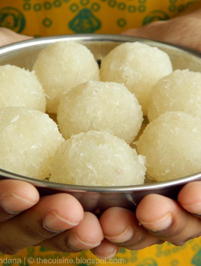 Kobbari Undalu (Coconut Laddu) ~ Krishnashtami Special Recipes