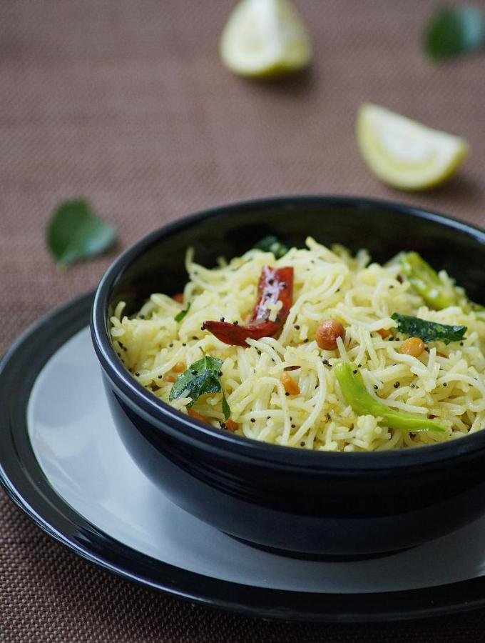 Lemon Sevai Recipe – Lemon Idiyappam Recipe
