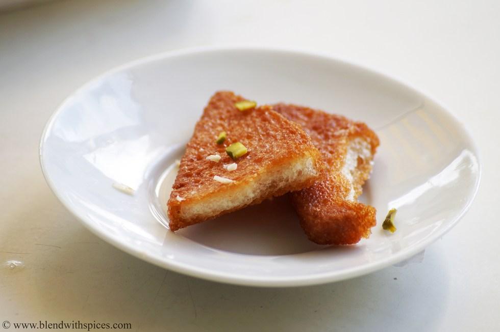 desserts recipes with bread, easy bread kaja recipe, easy bread desserts