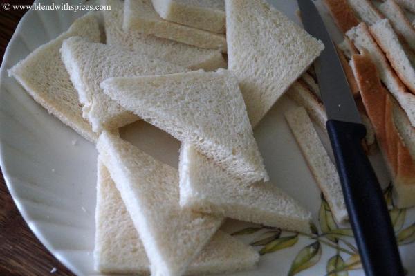 bread kaja recipe, indian sweets with bread