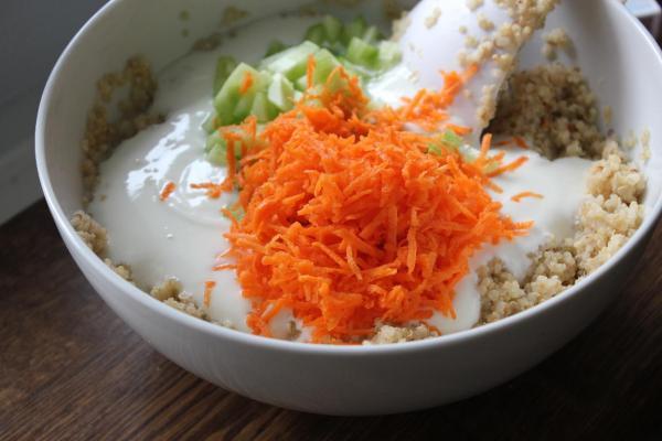 healthy quinoa recipe Indian, how to make Indian style quinoa yogurt recipe