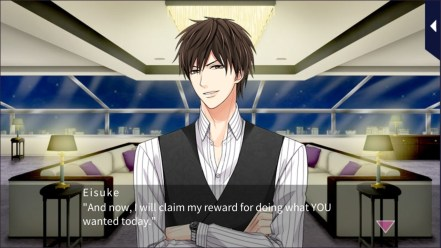 Eisuke Ichinomiya from Kissed By The Baddest Bidder talking to his MC