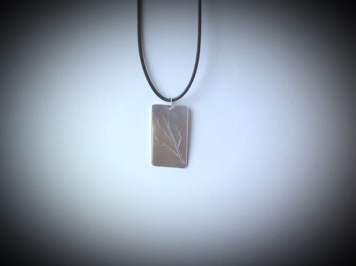 Silver Filled Tree Branch Pendant