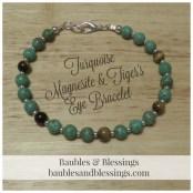 Turquoise Magnesite & Tiger's Eye Bracelet