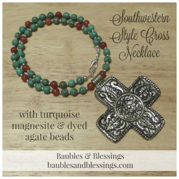 Southwestern Style Cross Necklace