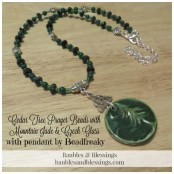 Cedar Tree Prayer Beads with Mountain Jade & Czech Glass