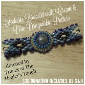 Sodalite Bracelet with Dragonskin Pattern by The Healer's Touch