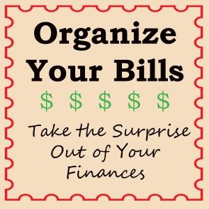 organize your bills