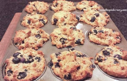 Quick Gluten Free Blueberry Muffins