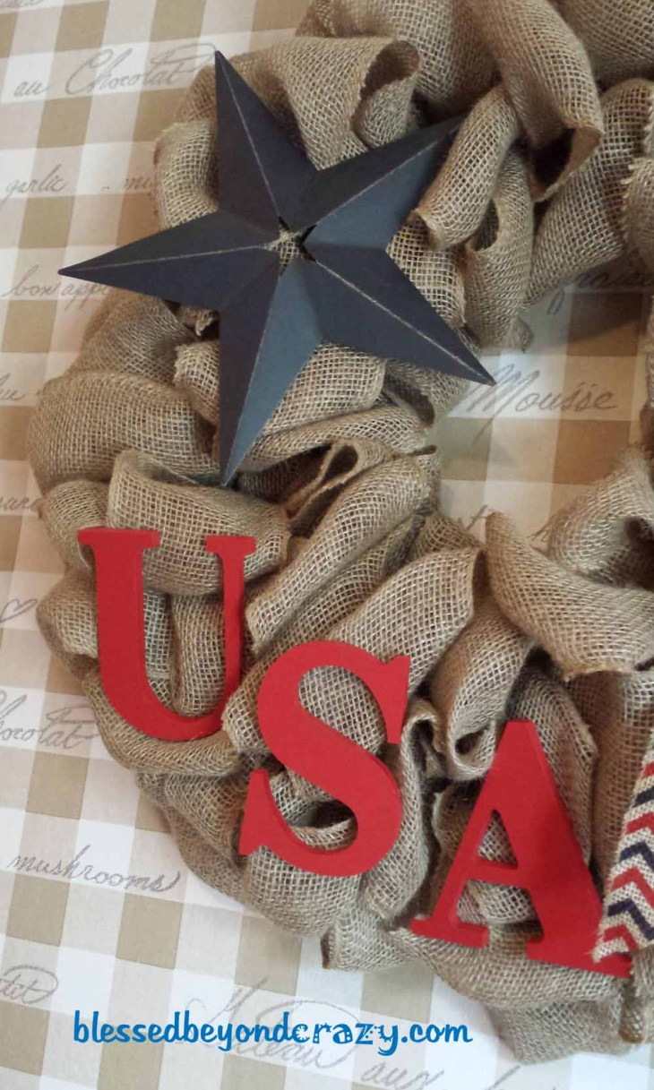 patriotic 4th of july wreath