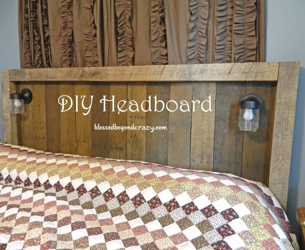 headboard made from pallets