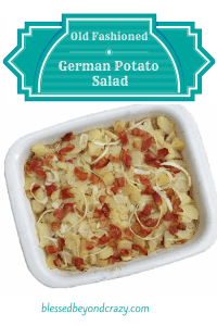 Old Fashioned German Potato Salad