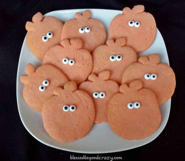 halloween pumpkin sugar cookies10