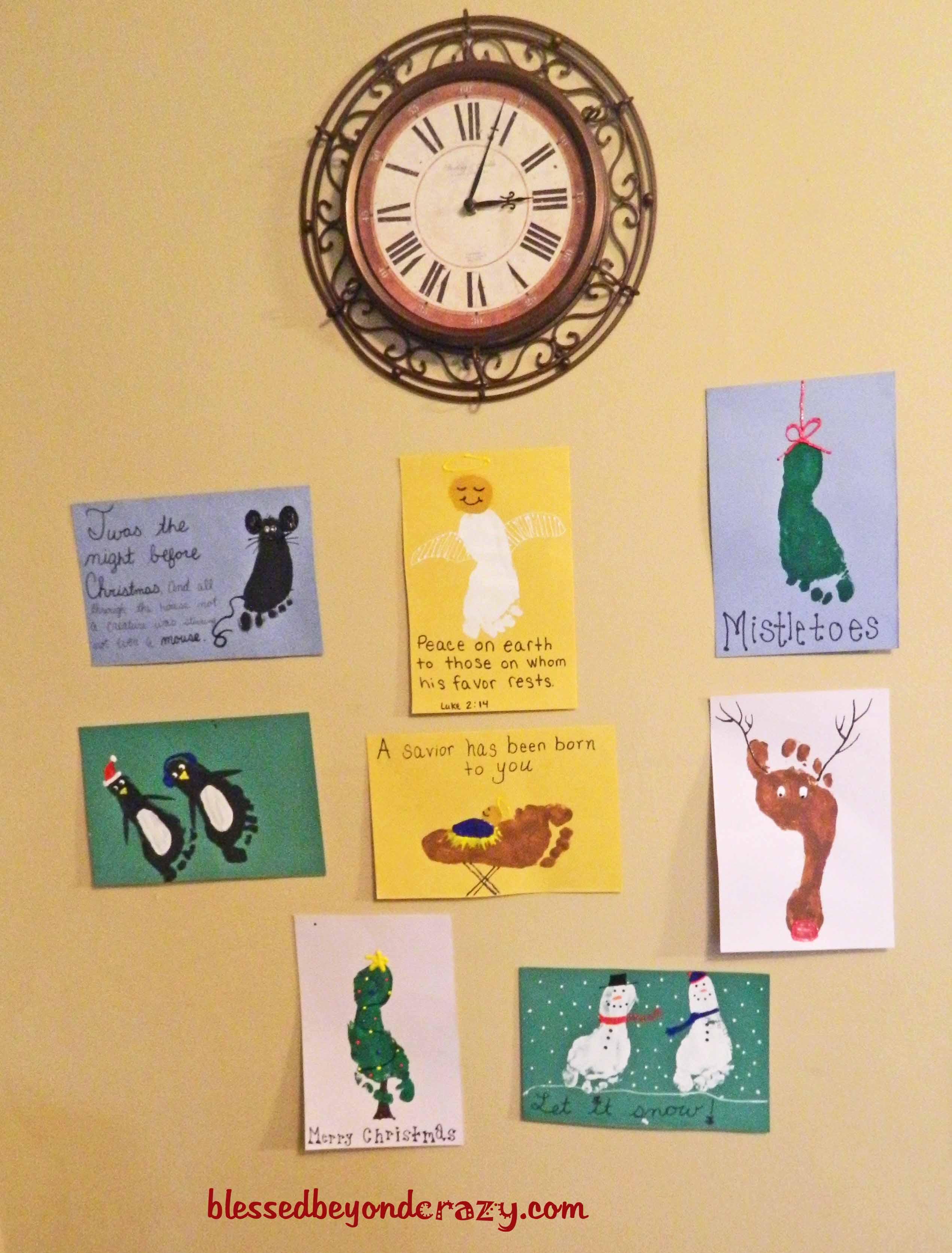 day 4 make christmas footprint art