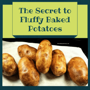 secret to fluffy baked potatoes