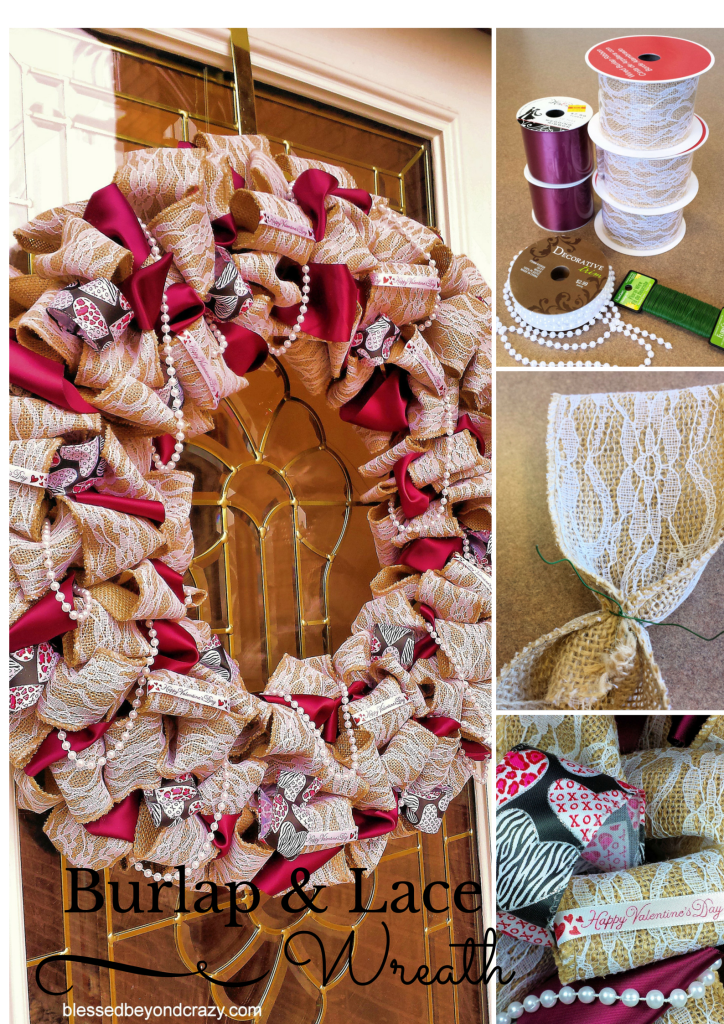 DIY Burlap and Lace Wreath