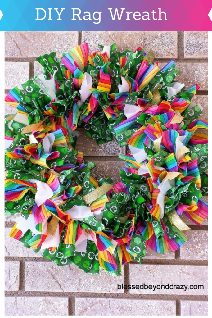 DIY Rag Wreath 1