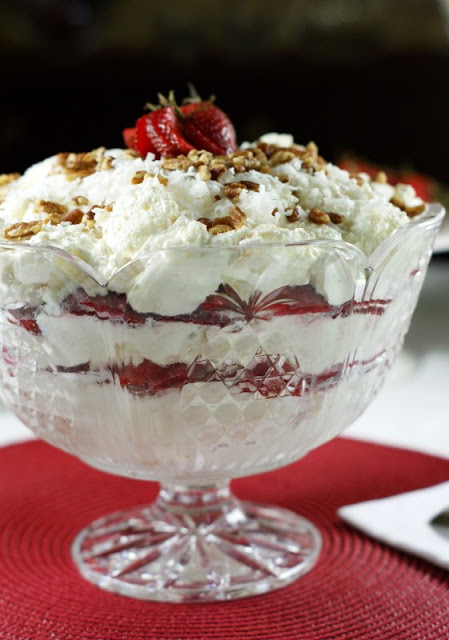 Strawberry-Coconut Punch Bowl Cake 3