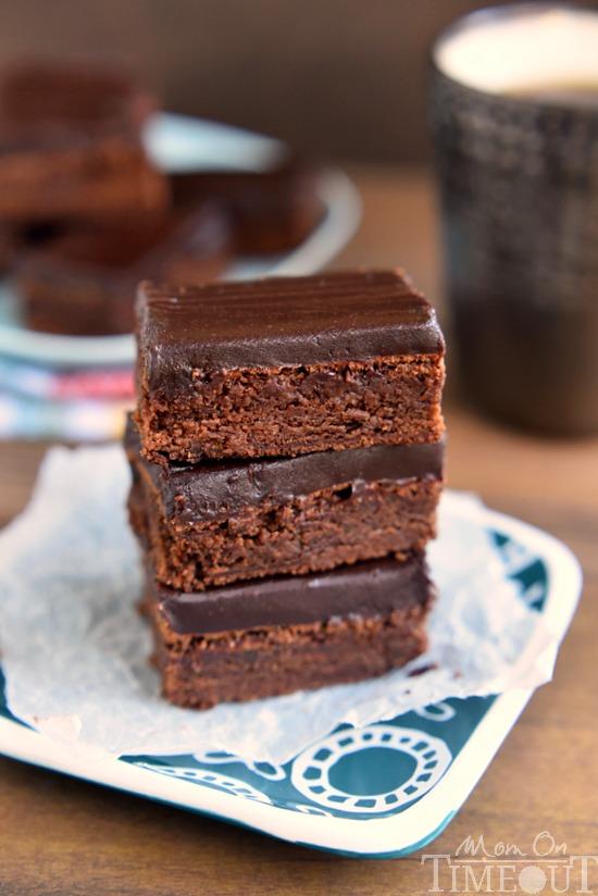 mocha-truffle-brownies-with-ganache-frosting