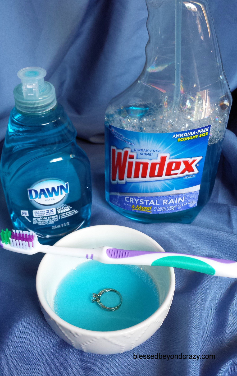 Here Is How I Have Been Cleaning My Diamond Wedding Ring For Years And It  Only Requires Two Ingredients I Simply Place A Couple Of Drops Of Dish  Detergent